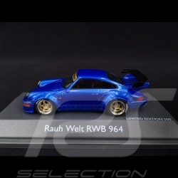 Porsche 911 type 964 RWB Rauh-Welt blue 1/43 Schuco 450911400