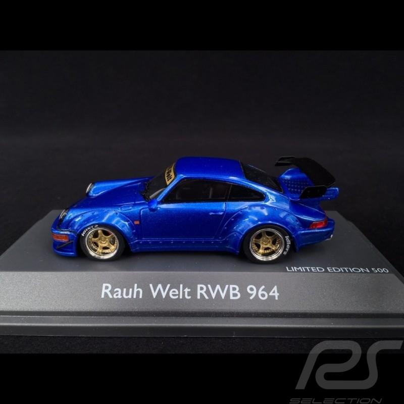 Porsche 911 type 964 RWB Rauh-Welt bleu 1/43 Schuco 450911400