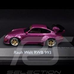 Porsche 911 typ 993 RWB Rauh-Welt lila 1/43 Schuco 450911600
