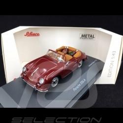 Porsche 356 A Cabriolet 1956 bordeaux with golf bags 1/43 Schuco 450268800