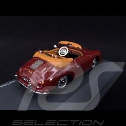 Porsche 356 A Cabriolet 1956 bordeaux mit Golftaschen 1/43 Schuco 450268800