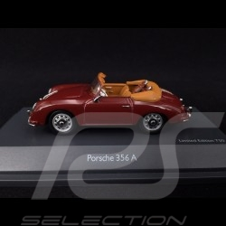 Porsche 356 A Cabriolet 1956 bordeaux avec sacs de golf 1/43 Schuco 450268800 with golf bags mit Golftaschen