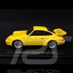 Porsche 911 type 964 Carrera RS 3.8 1993 1/43 Spark S1935 jaune Vitesse Speed yellow Speedgelb