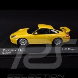 Porsche 911 GT3 type 996 1999 jaune vitesse 1/43 Minichamps 430068001 speed yellow speedgelb