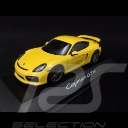 Porsche Cayman GT4 racing yellow 1/43 Schuco WAP0204020F