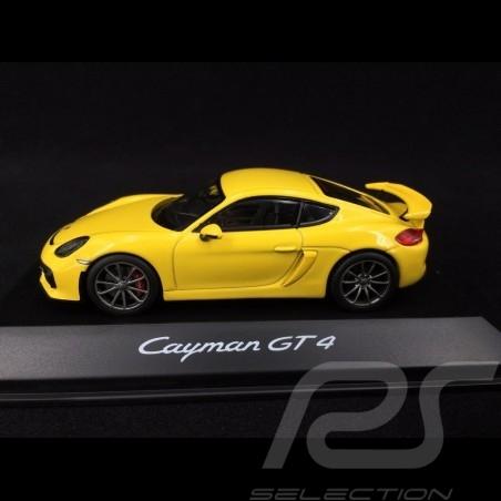 Porsche Cayman GT4 racing yellow 1/43 Schuco WAP0204020F