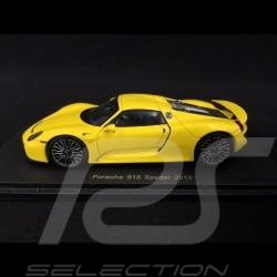 Porsche 918 Spyder Racing yellow 1/43 Spark S4198
