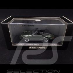Porsche 911 3.0 SC cabriolet 1983 oak green 1/43 Minichamps 430062035