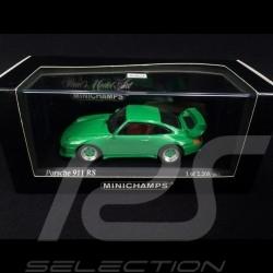 Porsche 911 RS type 993 1995 signal green 1/43 Minichamps 430065106