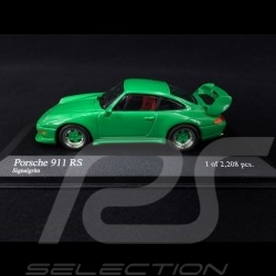Porsche 911 RS typ 993 1995 Signalgrün 1/43 Minichamps 430065106