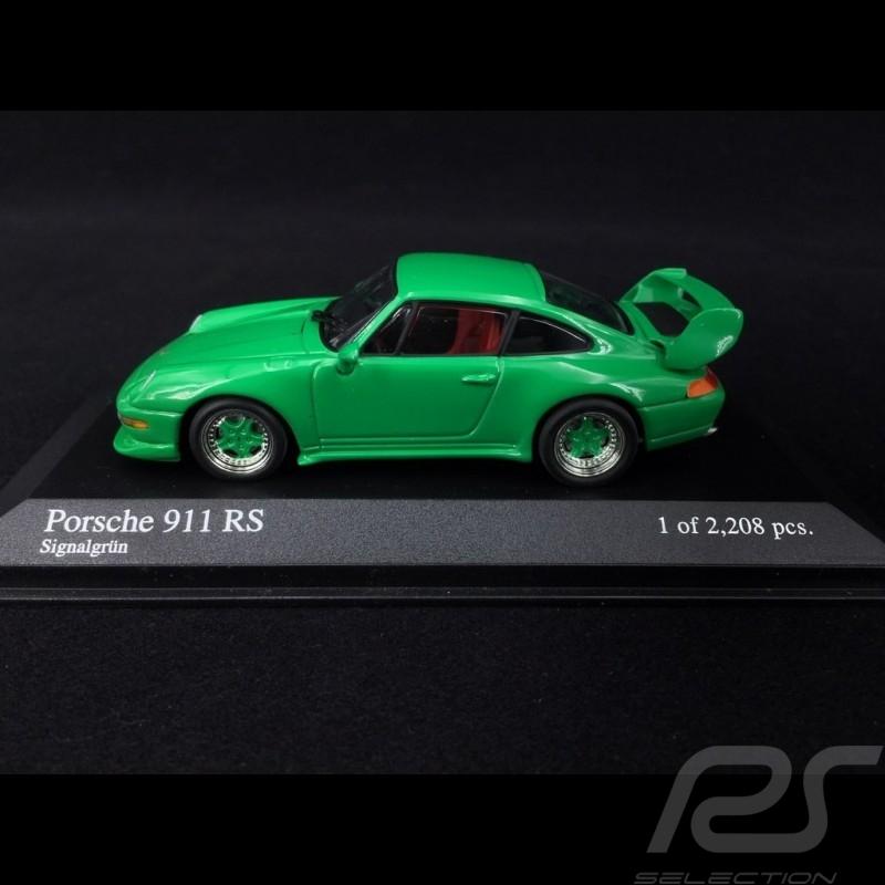 Porsche 911 RS type 993 1995 vert signal 1/43 Minichamps 430065106 signal green signalgrün