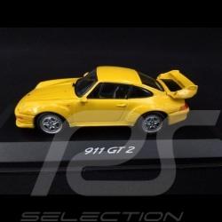 Porsche 911 GT2 Type 993 1995 Jaune vitesse speed yellow speedgelb 1/43 Minichamps WAP020017