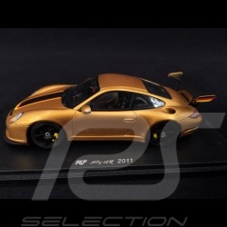 Porsche 911 Ruf RT 12R type 997 2011 Or Gold noir black schwarz 1/43 Spark S2175