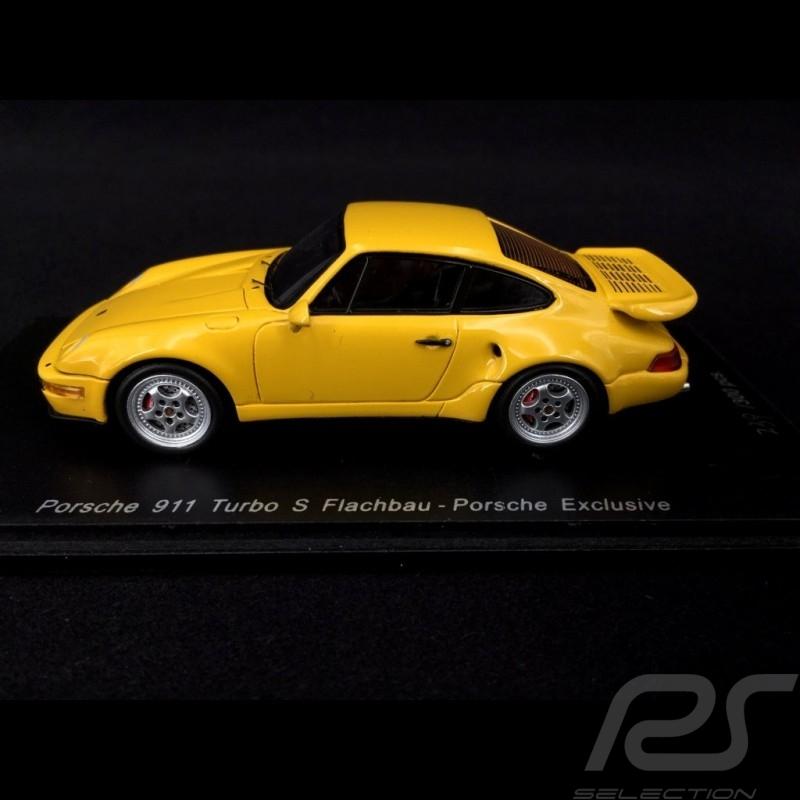 Porsche 964 Turbo S flachbau 1992 gelb 1/43 Spark CA04312007