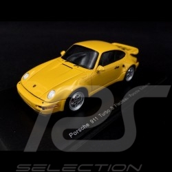 Porsche 964 Turbo S flatnose 1992 yellow 1/43 Spark CA04312007