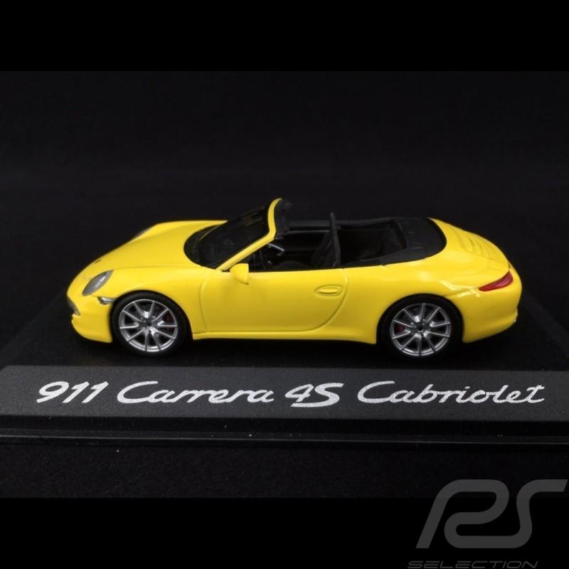 Porsche 991 Carrera 4S Cabriolet 2012 gelb 1/43 Minichamps WAP0201120C