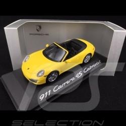 Porsche 911 type 991 Carrera 4S Cabriolet 2012 1/43 Minichamps WAP0201120C jaune racing yellow gelb