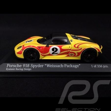 Porsche 918 Spyder 2015 n° 2 Package Weissach Kyalami Racing Design 1/43 Minichamps 410062134