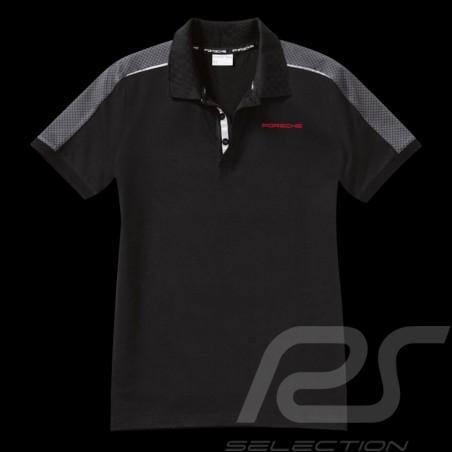 Polo Porsche Racing Collection schwarz grau rot WAP451 - Herren