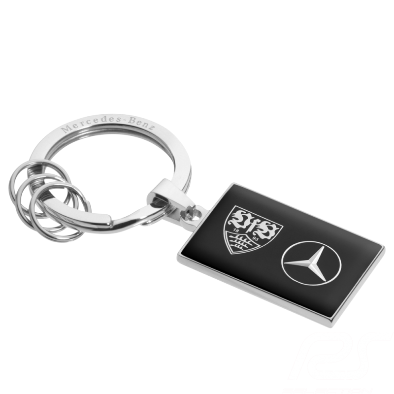 Porte-clés Mercedes VfB Stuttgart noir Mercedes-Benz B66952319 keyring schlusselanhanger