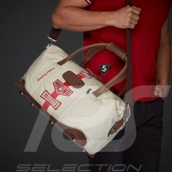 Gulf Travel bag Steve McQueen Le Mans Medium Beige Cotton / leather