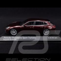 Porsche Panamera Sport Turismo 4S Diesel 2017 Burgandy red 1/43 Minichamps 410066110