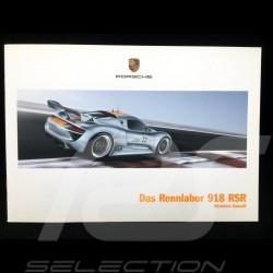 Broschüre Porsche Das Rennlabor 918 RSR 01/2011 ref Wsls1101000710