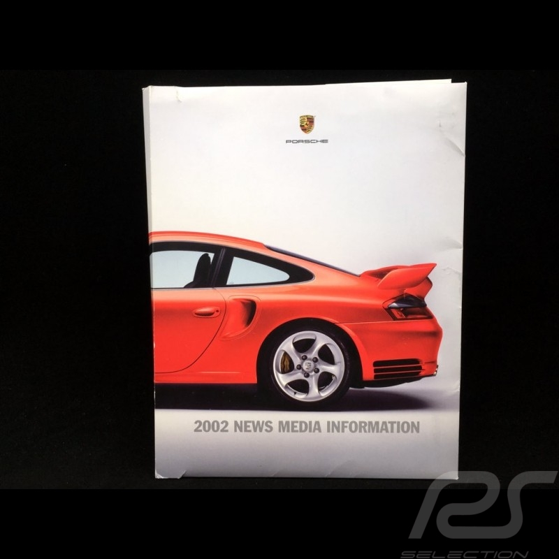 Dossier presse Press-kit Pressemappe Gamme Porsche 2002 Canada / USA en anglais