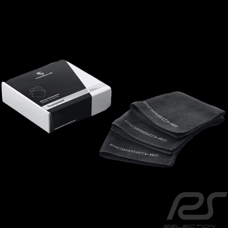 Set of 3 microfiber cleaning cloths Porsche Car Care Tequipment 4400195