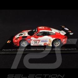 Porsche 911 GT3 R type 991 n° 30 Frikadelli Racing Team 24h Nürburgring 2019 1/43 Spark SG548