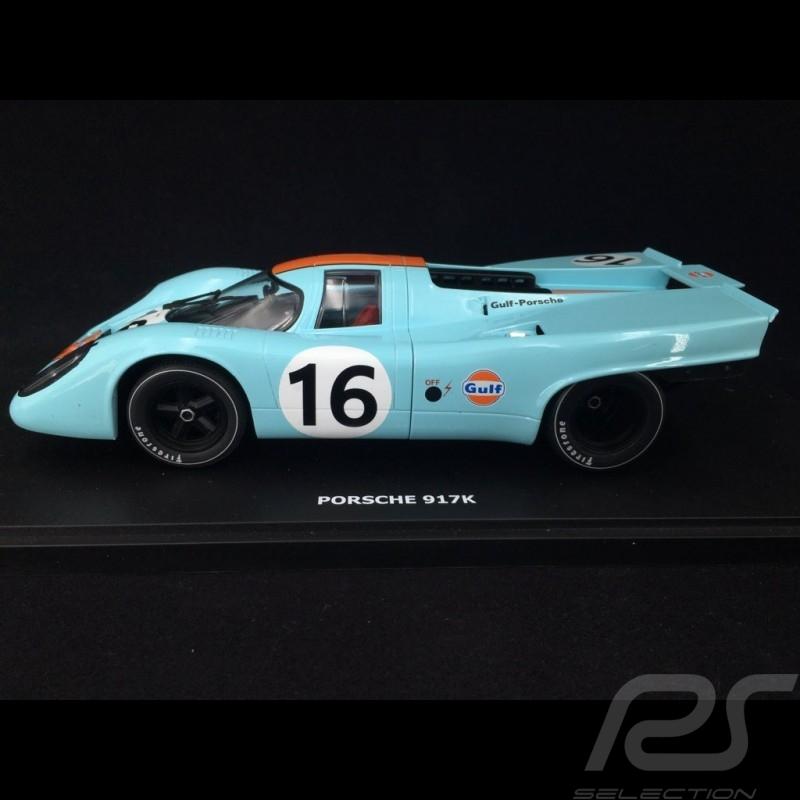 Porsche 917 K Vainqueur 1000km Zeltweg 1971 n° 16 JWA Gulf 1/18 CMR CMR146-16