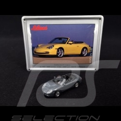 Porsche 911 Carrera Cabriolet type 996 1997 grey with metallic card 1/87 Schuco 452693200