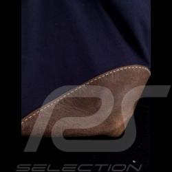 Gulf Travel bag Steve McQueen Le Mans Navy blue Cotton / leather