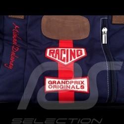 Gulf Travel bag Steve McQueen Le Mans Medium Navy blue Cotton / leather