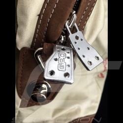 Sac de voyage Travel bag Reisetasche Gulf Steve McQueen Le Mans Medium Beige Coton / cuir