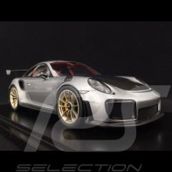 Porsche 911 GT2 RS typ 991 silber / schwarz 1/18 Spark WAP0211510J