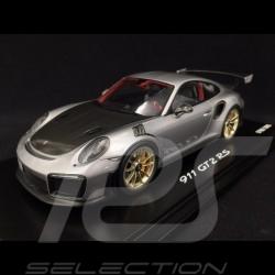 Porsche 911 GT2 RS type 991 silver / black 1/18 Spark WAP0211510J