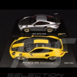 Duo Porsche 911 GT2 RS type 991 1/18 Spark WAP0211510J WAP0211520J