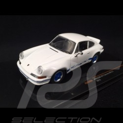 Porsche 911 Carrera RS 2.7 1973 white / blue 1/43 Ixo CLC320N