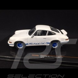 Porsche 911 Carrera RS 2.7 1973 white / blue 1/43 Ixo CLC320N
