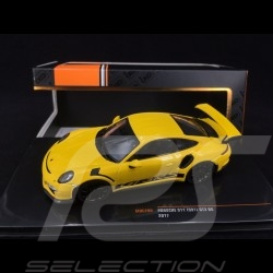 Porsche 911 GT3 RS type 991 2017 yellow racing 1/43 Ixo MOC299