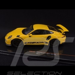 Porsche 911 GT3 RS type 991 2017 yellow racing 1/43 Ixo MOC299