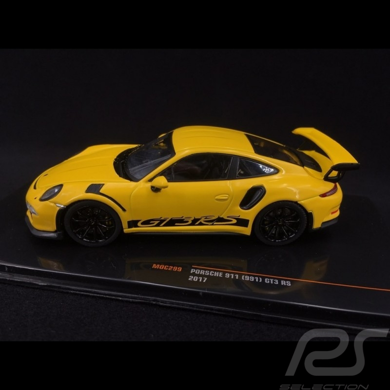 Porsche 911 GT3 RS typ 991 2017 racinggelb 1/43 Ixo MOC299