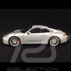 Porsche 911 Carrera S type 991 2012 silver 1/18 Welly 18047S