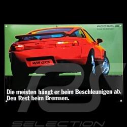 Porsche Emailleschild 928 GTS in indischrot 40 x 60 cm PCG00092810