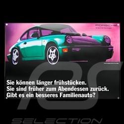 Porsche Emailleschild 911 Carrera Typ 964 Grün 40 x 60 cm PCG00096420