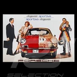 Plaque émaillée Porsche 911 elegante sportiva 40 x 60 cm PCG00099914 Enamel plate Emailleschild