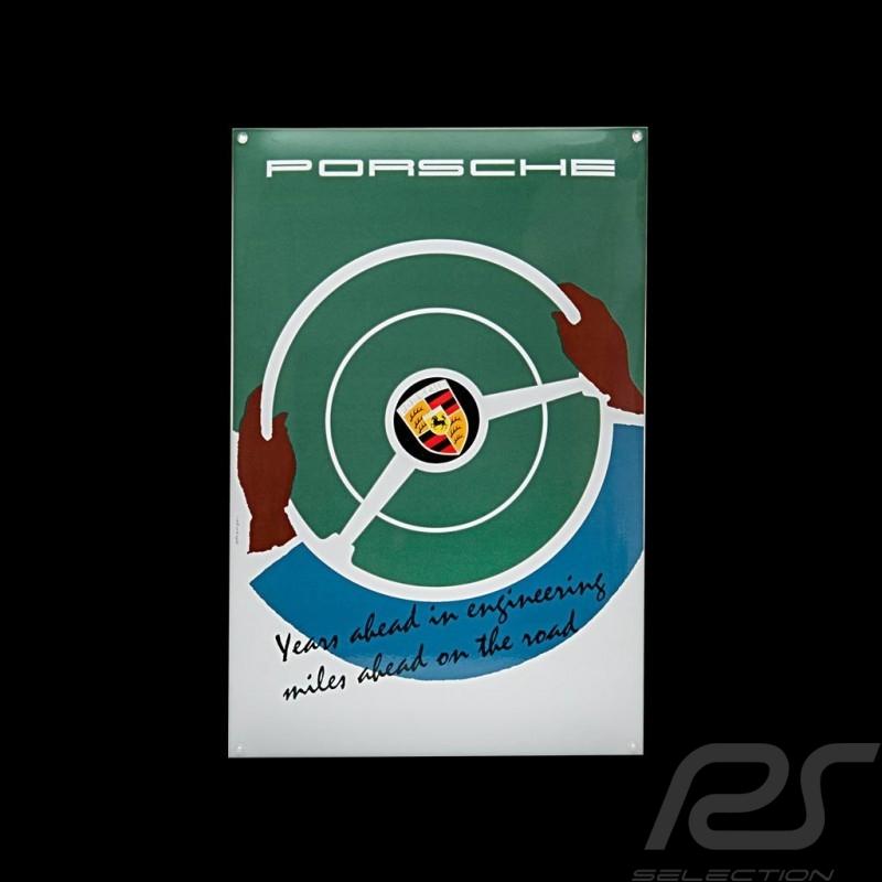Plaque émaillée Porsche Years ahead in engineering 40 x 60 cm PCG00099916 Enamel plate Emailleschild