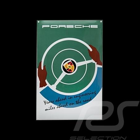 Porsche Enamel plate Years ahead in engineering 40 x 60 cm PCG00099916