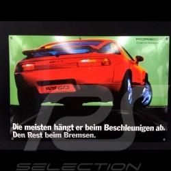 Porsche Enamel plate 928 GTS in Guards Red  40 x 60 cm PCG00092810